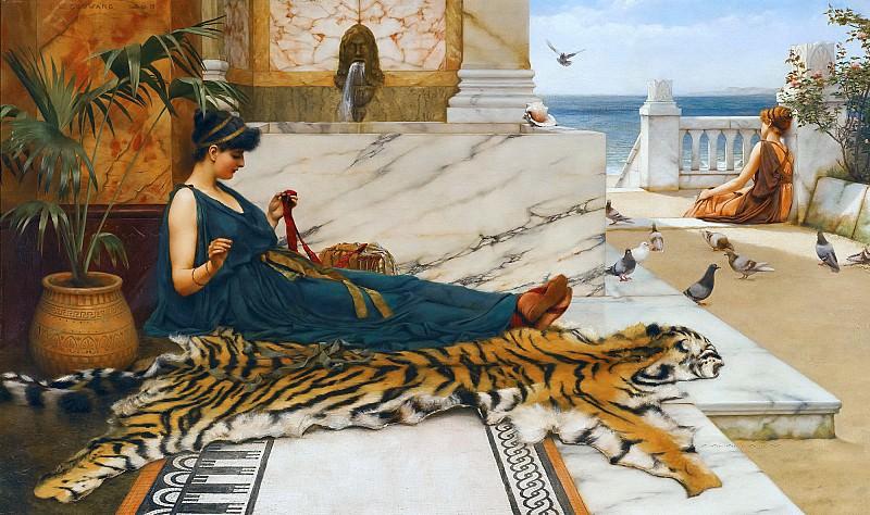 The Tigerskin. John William Godward