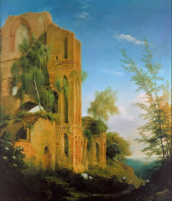Руины монастырского лена. Эдуард Гертнер