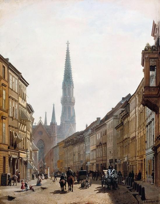 Брудерштрассе с видом на церковь святого Петра. Эдуард Гертнер