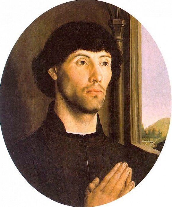 Portrait of a Man late 1400s tempera and oil on wood. Hugo Van Der Goes