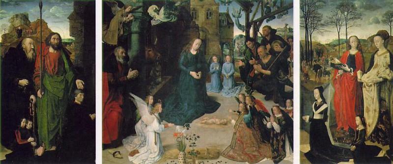 Триптих Портинари, ок.1475. Хуго ван дер Гус