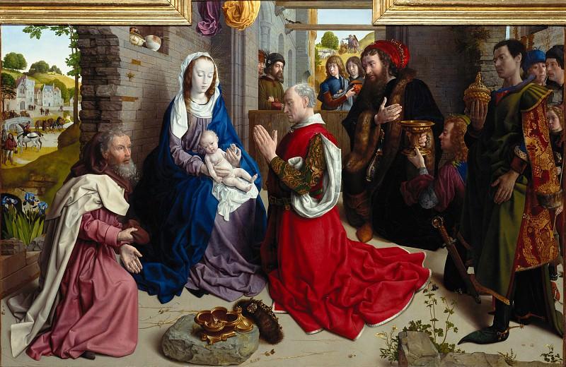 The Adoration of the Kings (Monforte Altar). Hugo Van Der Goes (Хьюго ван дер Гус - Поклонение королей (алтарь Монфорте))