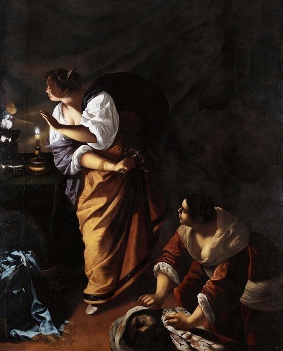 Judith and Her Maidservant. Artemisia Gentileschi