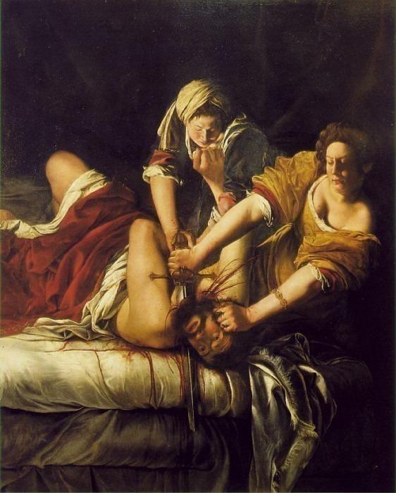 Judith Beheading Holofernes, 1620, 199x162.5. Artemisia Gentileschi