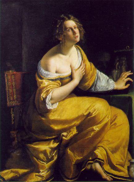 Mary Magdalen, ca 1613-20, 146.5x108 cm, Gall. Artemisia Gentileschi