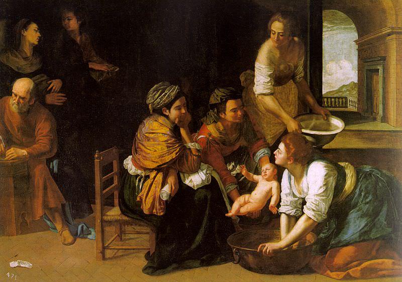 The Birth of St. John the Baptist, 1635, oil. Artemisia Gentileschi