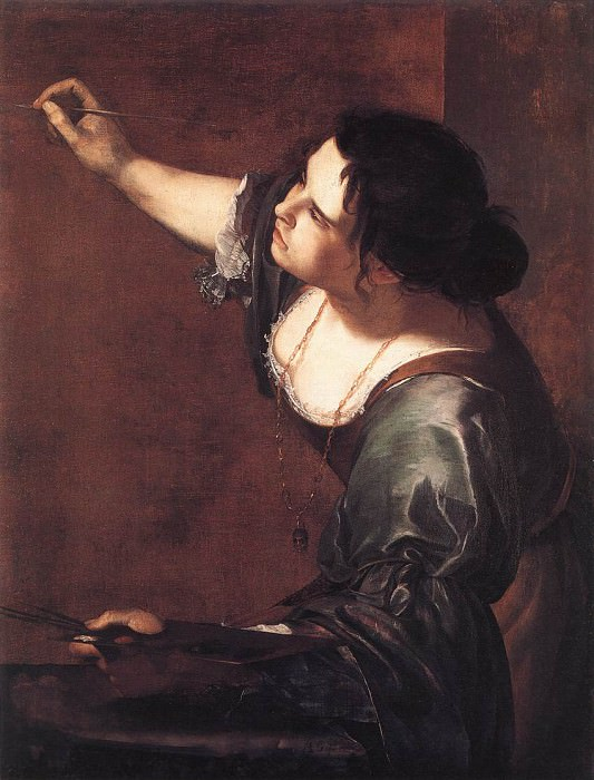 Self Portrait As The Allegory Of Painting. Artemisia Gentileschi