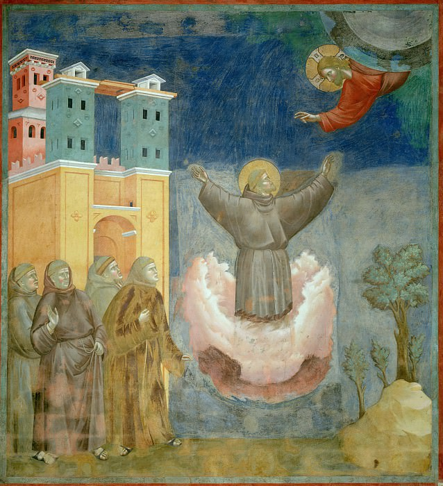 Legend of St Francis 12. Ecstasy of St Francis. Giotto di Bondone