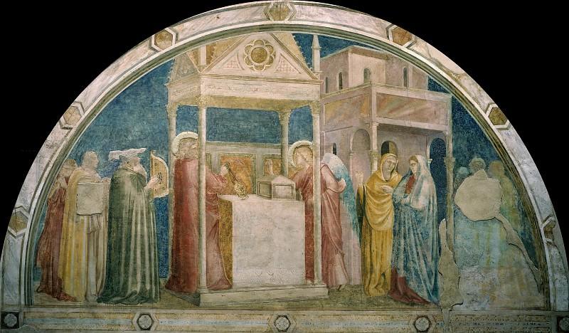 Peruzzi Chapel: Annunciation to Zacharias. Giotto di Bondone