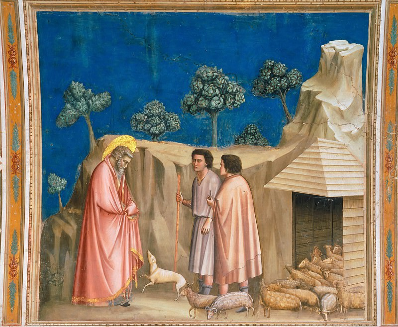02. Joachim among the Shepherds. Giotto di Bondone