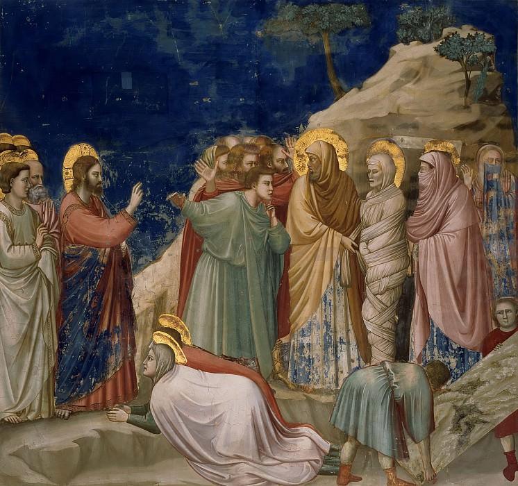 25. Raising of Lazarus. Giotto di Bondone