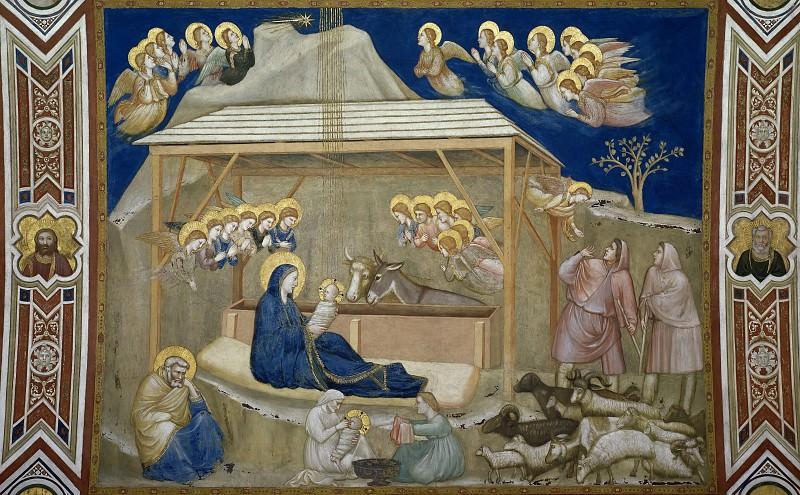 Frescoes of the north transept - Nativity. Giotto di Bondone