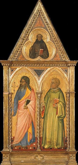 Апостол Филипп, святой Леонард и святой Франциск Ассизский в трилистнике. Джотто ди Бондоне