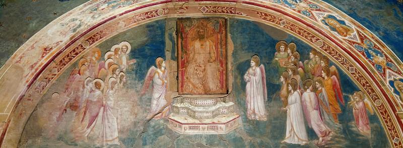 13. God Sends Gabriel to the Virgin. Giotto di Bondone