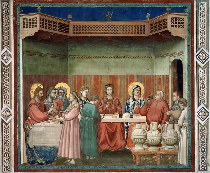 24. Marriage at Cana. Giotto di Bondone