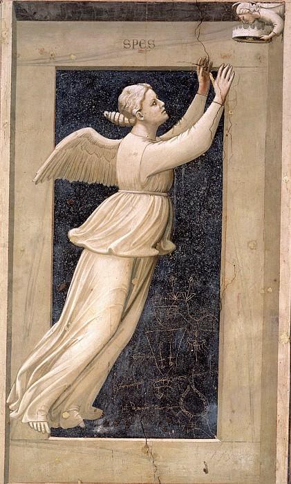 46 The Seven Virtues: Hope. Giotto di Bondone