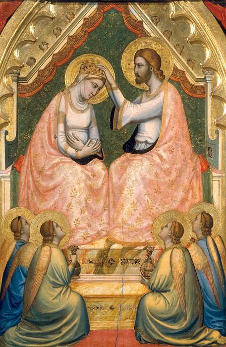 Baroncelli Polyptych: Coronation of the Virgin. Giotto di Bondone