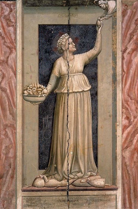45 The Seven Virtues: Charity. Giotto di Bondone