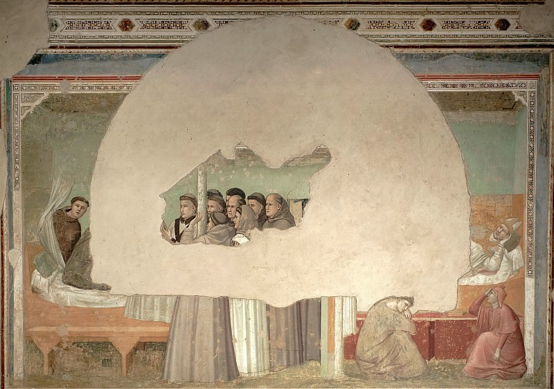 Bardi Chapel: Vision of the Ascension of St Francis. Giotto di Bondone
