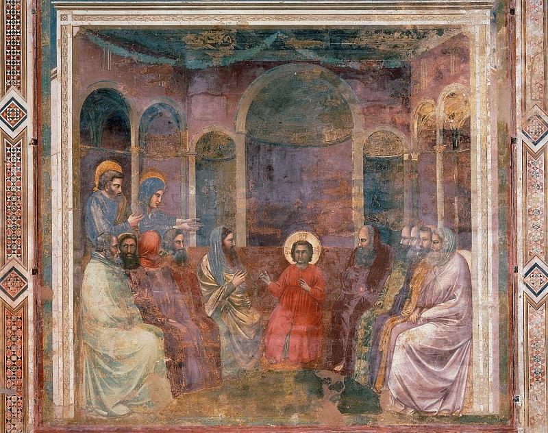 22. Christ among the Doctors. Giotto di Bondone