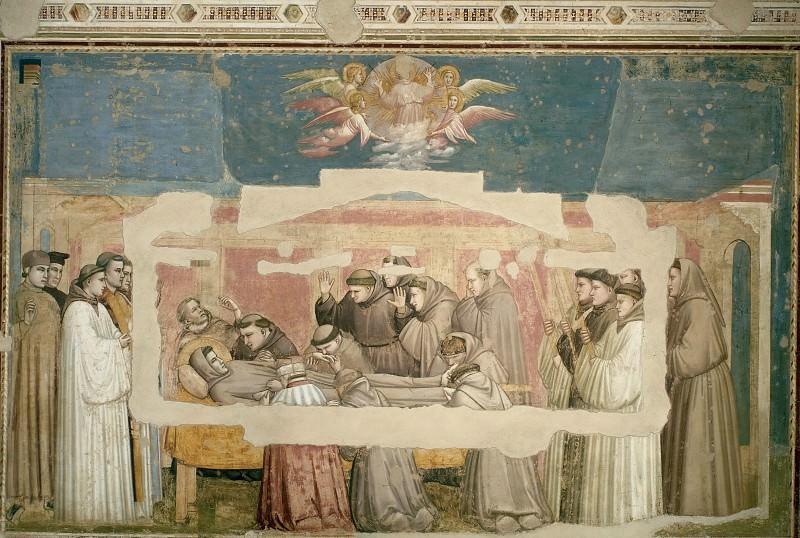 Капелла Барди: Смерть, подтверджение стигматов и вознесение Святого Франциска. Джотто ди Бондоне