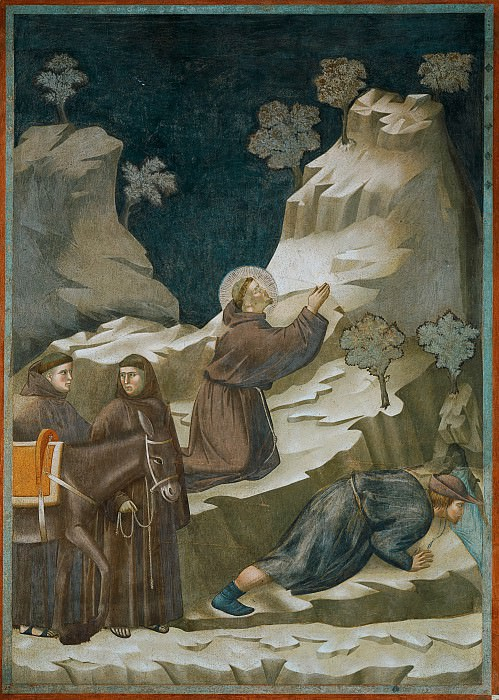 Legend of St Francis 14. Miracle of the Spring. Giotto di Bondone