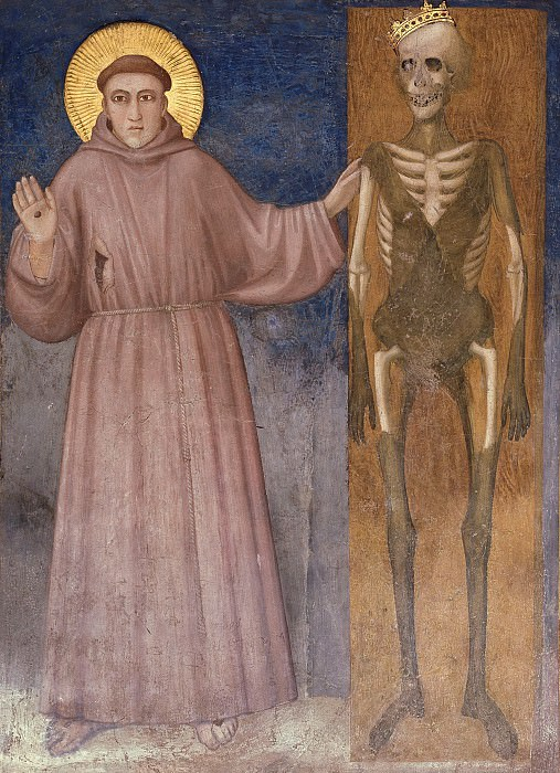 Frescoes of the north transept - St Francis Points to Death. Giotto di Bondone