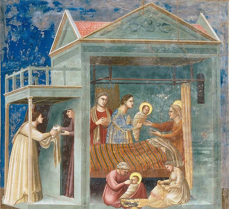 07. The Birth of the Virgin. Giotto di Bondone