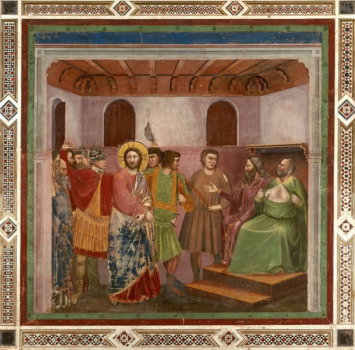 32. Christ before Caiaphas. Giotto di Bondone