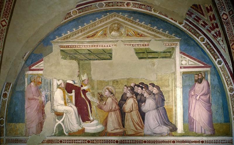 Bardi Chapel: Confirmation of the Rule. Giotto di Bondone