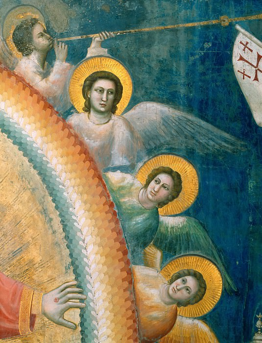 54 Last Judgment; detail. Giotto di Bondone