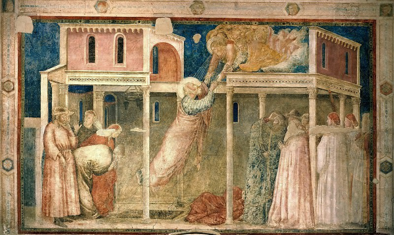 Peruzzi Chapel: Ascension of the Evangelist. Giotto di Bondone