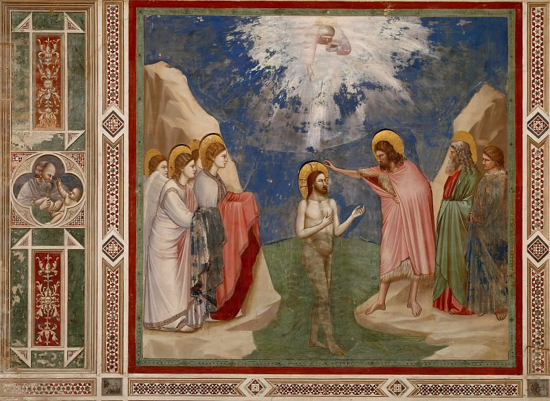 23. Baptism of Christ. Giotto di Bondone