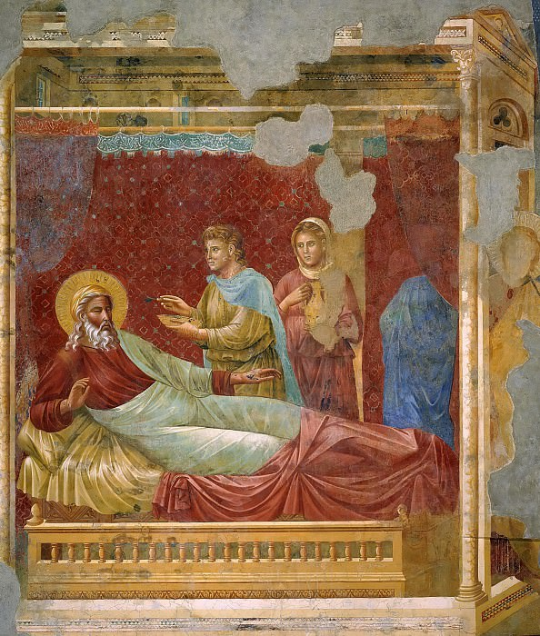 Esau appearing to Isaac. Giotto di Bondone