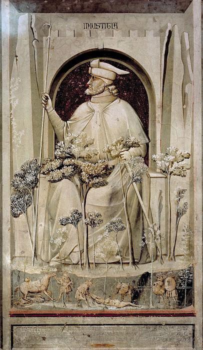 50 The Seven Vices: Injustice. Giotto di Bondone