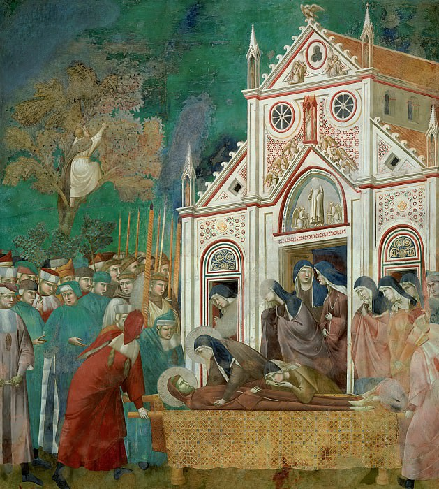 Legend of St Francis 23. St. Francis Mourned by St. Clare. Giotto di Bondone