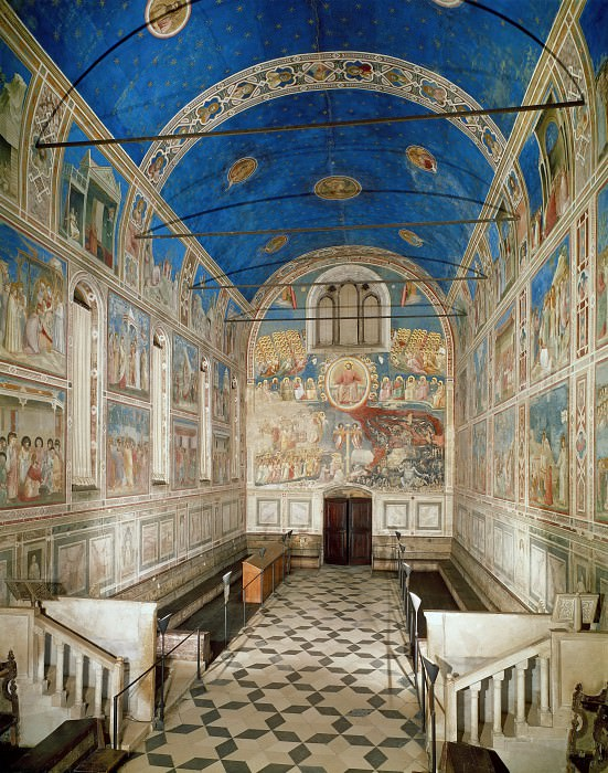 The Chapel viewed towards the entrance. Giotto di Bondone