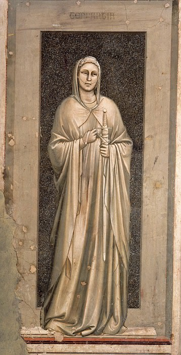 42 The Seven Virtues: Temperance. Giotto di Bondone