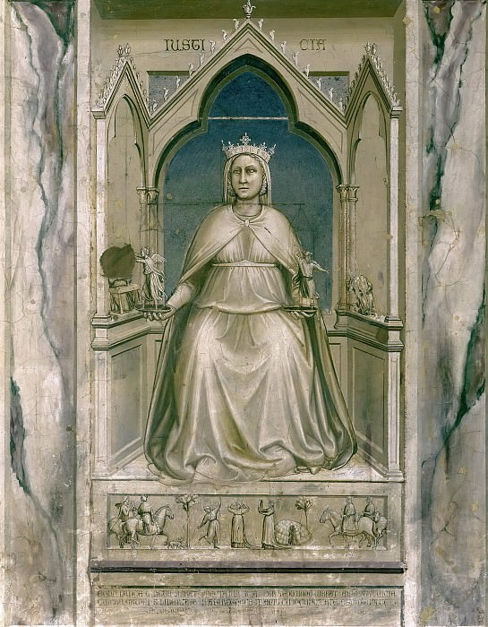 43 The Seven Virtues: Justice. Giotto di Bondone
