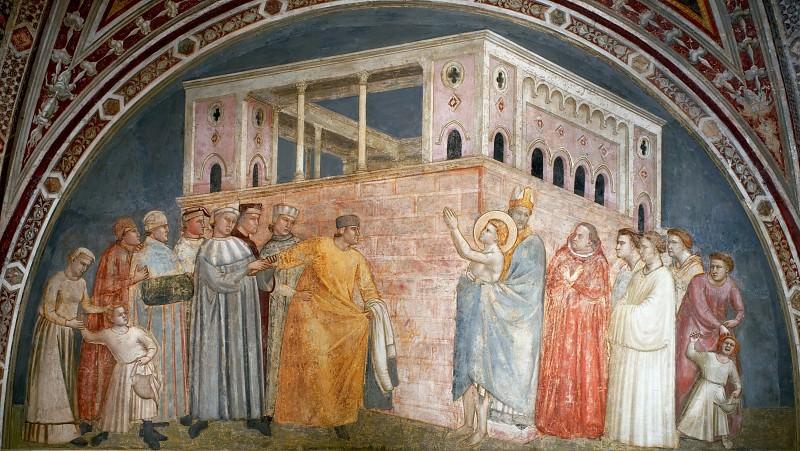 Bardi Chapel: Renunciation of Wordly Goods. Giotto di Bondone