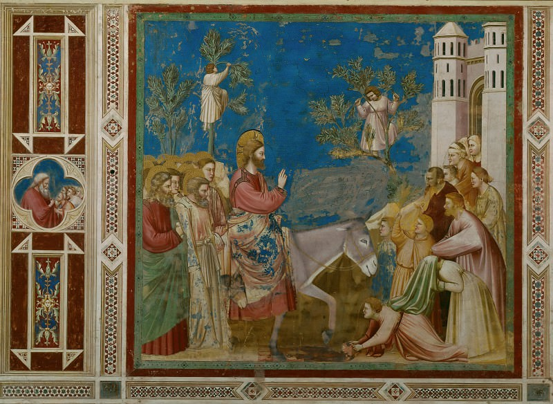 26. Entry into Jerusalem. Giotto di Bondone