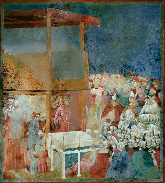 Legend of St Francis 24. Canonization of St Francis. Giotto di Bondone