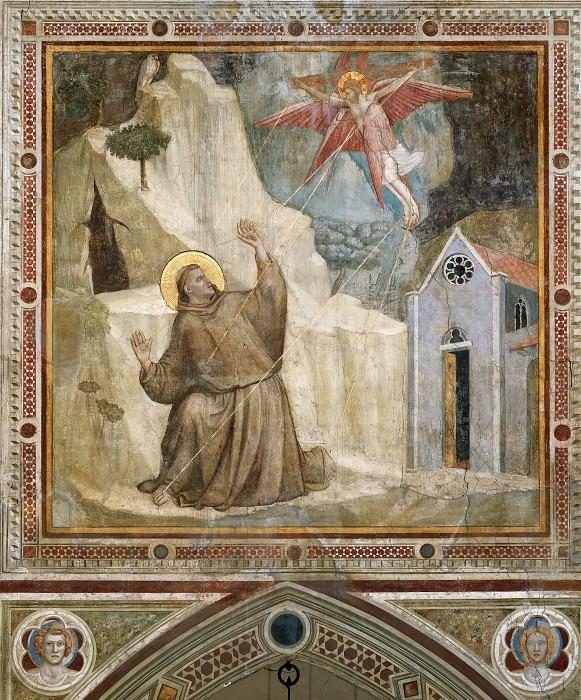 Bardi Chapel: Stigmatisation of St Francis. Giotto di Bondone