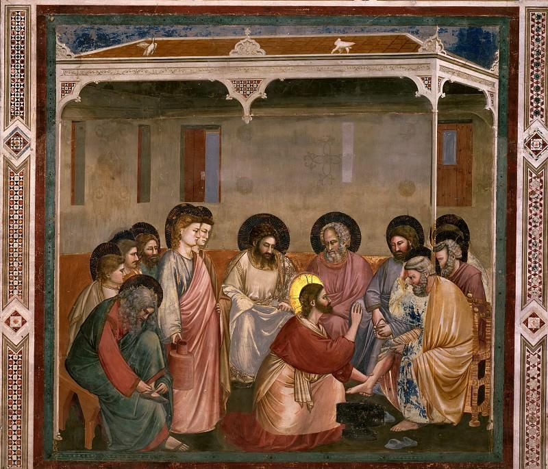 30. Washing of Feet. Giotto di Bondone