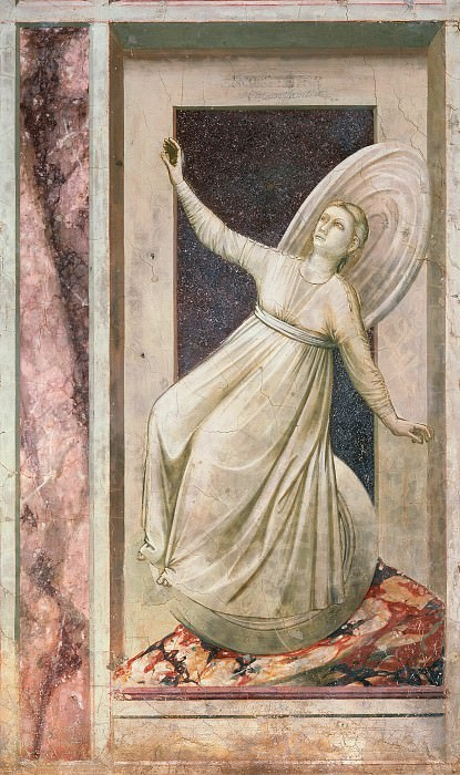 52 The Seven Vices: Inconstancy. Giotto di Bondone