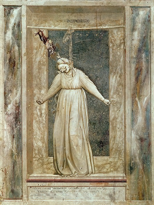 47 The Seven Vices: Desperation. Giotto di Bondone