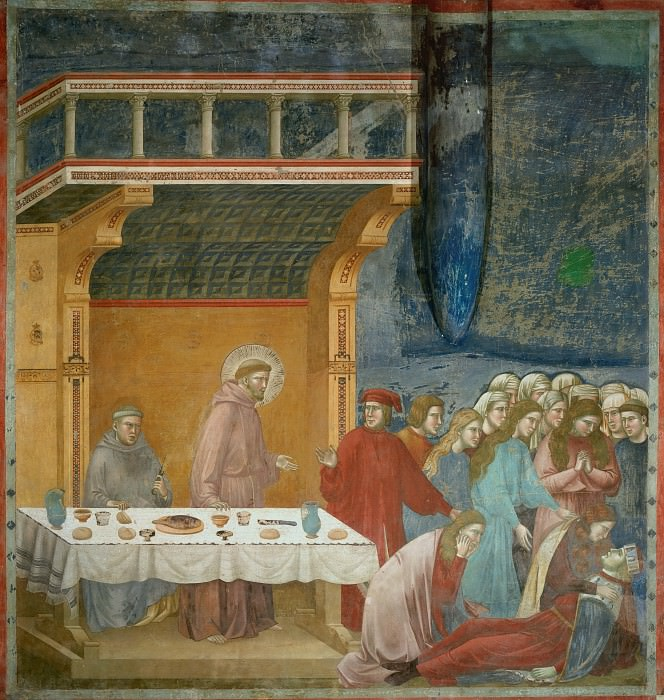 Legend of St Francis 16. Death of the Knight of Celano. Giotto di Bondone