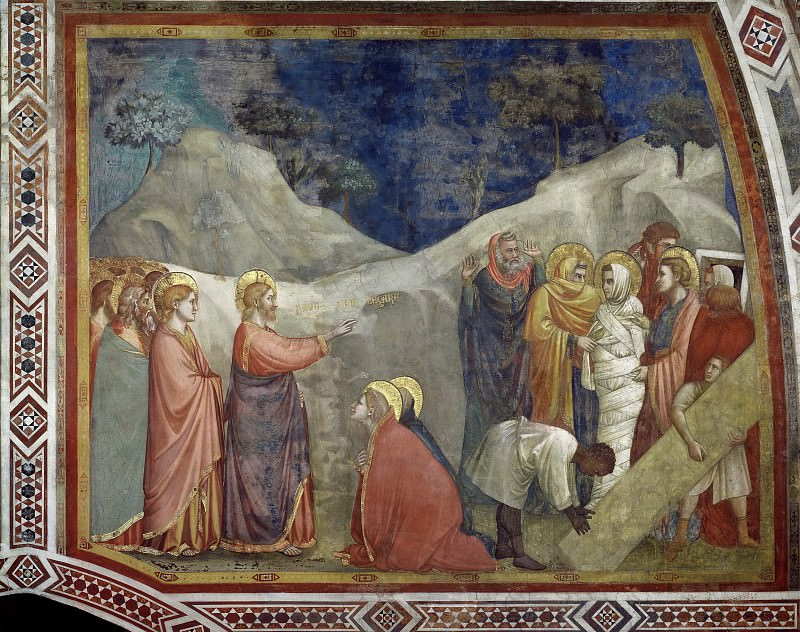 Scenes from the Life of Mary Magdalen: Raising of Lazarus. Giotto di Bondone