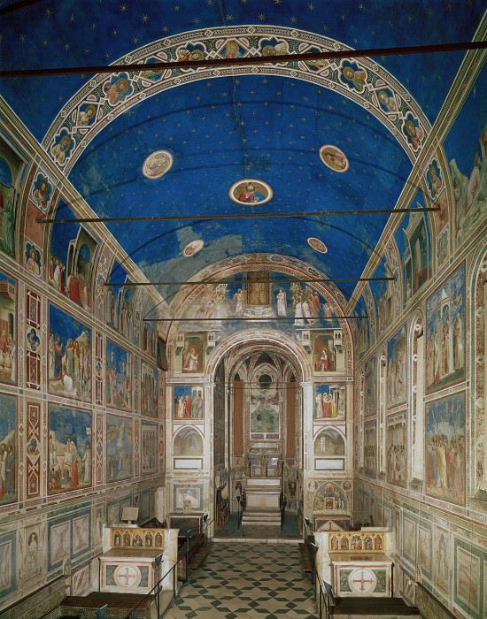 The Chapel viewed from the entrance. Giotto di Bondone