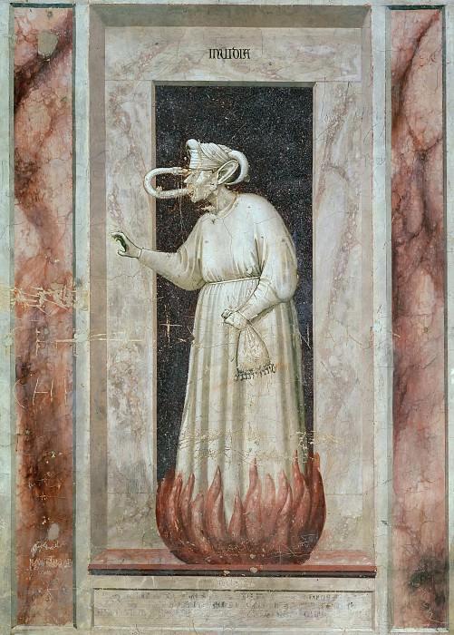 48 The Seven Vices: Envy. Giotto di Bondone